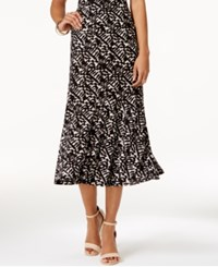 Jm Collection Printed Jacquard Midi Skirt Only At Macy's Brush Stroke