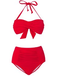 Phase Eight Ali Bandeau Bikini Top Red