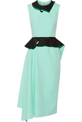 Roksanda Ilincic Howell Ruffled Crepe Midi Peplum Dress Green