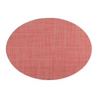 Chilewich Mini Basketweave Oval Placemat Guava