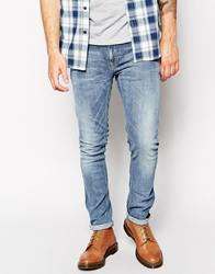 Nudie Jeans Tight Long John Skinny Fit Pure Blue Mid