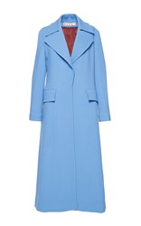 Marni Double Face Wool Coat Blue