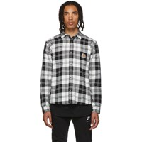 Carhartt Work In Progress Black And White Check Pulford Shirt