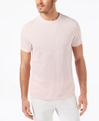 Ryan Seacrest Distinction Men's Slim Fit Heathered T Shirt Created For Macy's Pink
