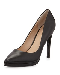 Charles By Charles David Plateau Pointed Toe Leather Pump Black
