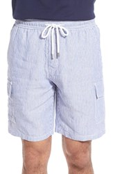 Vilebrequin Men's Striped Linen Drawstring Cargo Shorts