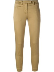 Dondup Cropped Tapered Chinos Nude And Neutrals