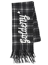 Golden Goose 'Goldeny' Plaid Wool Scarf Black White