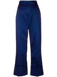 Tommy Hilfiger Striped Tailored Pants Blue