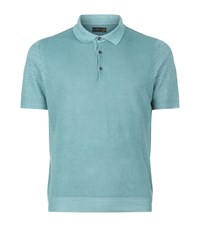 Corneliani Knitted Linen Polo Shirt Male