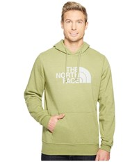 The North Face Half Dome Hoodie Iguana Green Heather High Rise Grey Men's Long Sleeve Pullover