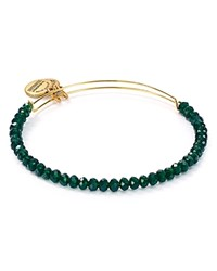 Alex And Ani Mother Earth Brilliance Expandable Wire Bangle Green