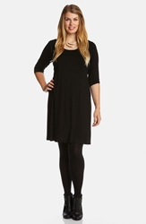 Karen Kane Scoop Neck Jersey Dress Plus Size Black