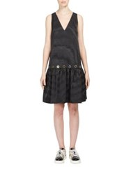 Kenzo Taffeta Drop Waist Dress Black