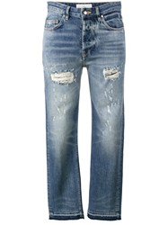 Golden Goose Deluxe Brand Ripped Jeans Blue