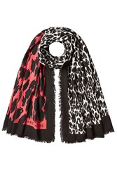 Marc Jacobs Printed Scarf With Wool Multicolored