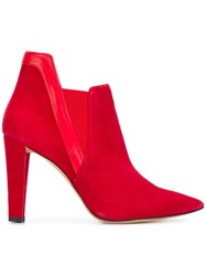Jean Michel Cazabat 'Etretat' Booties Red