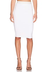 David Lerner Midi Skirt White