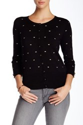 Chelsea And Theodore 3 4 Sleeve Bow Cardigan Black