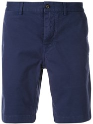 Alex Mill Classic Wash Chino Shorts Blue