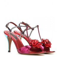 Marc Jacobs Metallic Leather Sandals Fuxia