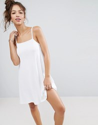 Asos 90S Swing Dress In Rib White