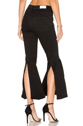 Frankie High Rise Flare With Embroidery Black