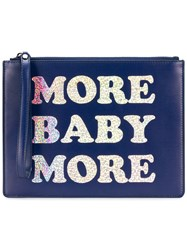 Christopher Kane More Baby More Clutch Blue