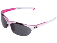 Tifosi Optics Wisp Interchangeable Race Pink Smoke Ac Red Clear Lens Sport Sunglasses Gray
