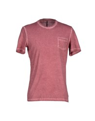 Tanomu Ask Me Topwear T Shirts Men Garnet