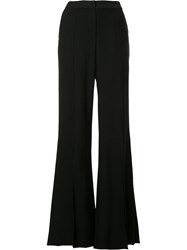 Hellessy Slit Leg Flared Trousers Black