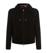 Armani Suede Quilted Jacket Black
