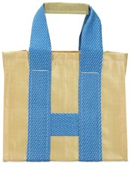 Comme Des Garcons Tote Bag Yellow Blue