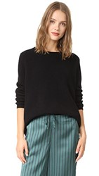 525 America Emma Shaker Sweater Black