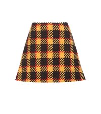 Marni Wool And Cotton Miniskirt Multicoloured