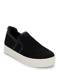 Ash Jeday Perforated Skate Platform Sneakers Marble Black