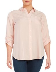 Lord And Taylor Plus Collared Button Front Shirt Ballet Slippers