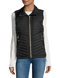 Vince Camuto Quilted Zip Front Vest Midnight