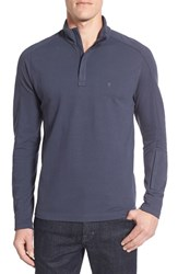 Victorinox Swiss Armyr Men's Army 'Uhrmacher' Long Sleeve Quarter Zip Pique Polo Smokey Blue