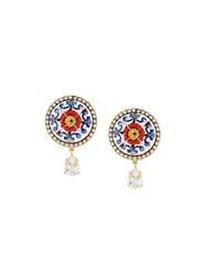 Dolce And Gabbana Decorative Clip On Earrings Red