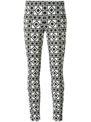 Fausto Puglisi Graphic Print Trousers Black