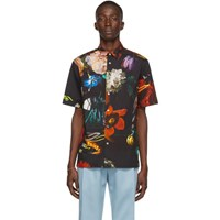 Paul Smith Ssense Exclusive Black Floral Short Sleeve Shirt