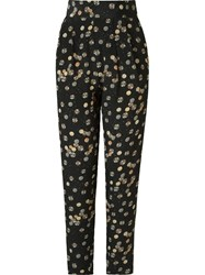 Andrea Marques High Waist Printed Trousers Black