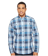 Spyder Crucial Long Sleeve Button Down Shirt French Blue Plaid Men's Long Sleeve Button Up