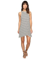 Billabong By And By Tee Dress Black White Women's Dress
