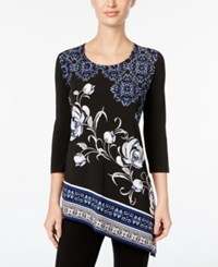 Jm Collection Asymmetrical Tunic Top Only At Macy's Black Venice Scarf