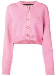 Marc Jacobs Cropped Knit Cardigan Pink