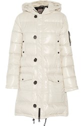 Duvetica Corcira Quilted Shell Down Coat Off White