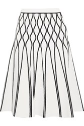 Tomas Maier A Bomb Stretch Knit Midi Skirt White