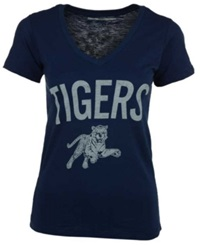 Royce Apparel Inc Women's Jackson State Tigers Vintage Arch T Shirt Navy